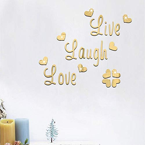 Live Laugh Love Quote Removable Wall Art Stickers Mirror Decal DIY Room Decor A, Home Decor, Home & Garden (A)