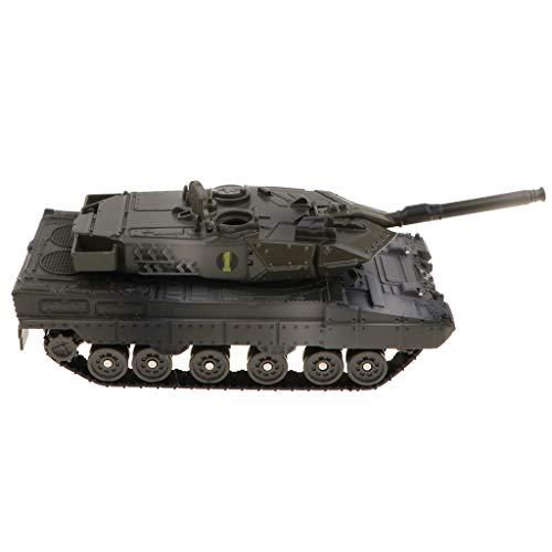 Mini Chinesische Tank Pullback Kampfpanzer Armee Fahrzeug Spielzeug Mit Licht Und Sound, Tolles Geburtstagsgeschenk für Kinder und Kleinkind - Leopard 2