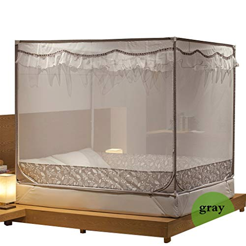 Four Corner Post Bed Canopy Mosquito Net Bed Mosquiteros Malla Canopy Bedding Net (4 Pies) (Color : B)