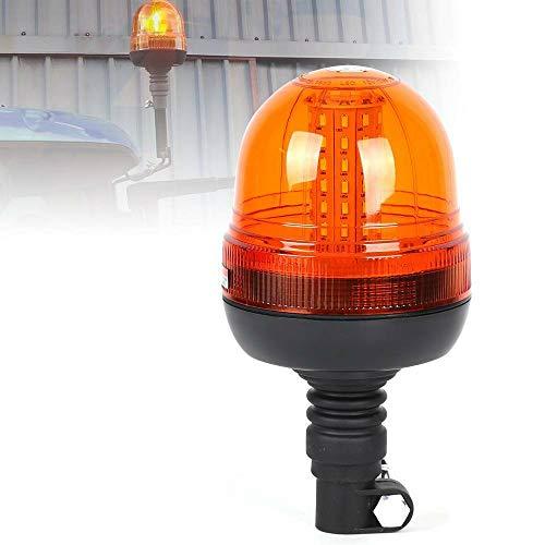 Baliza ámbar intermitente, SUNWAN 60LED Coche Giratorio DIN flexible, Luz de advertencia de 12V / 24V para camión tractor SUV Barco