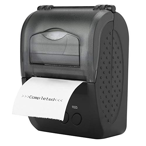 %9 OFF! Bluetooth Thermal Line Printer, Portable 90mm/sec Micro USB Bluetooth Printer Mini Mobile Re...