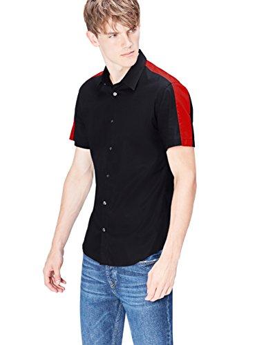 Marca Amazon - find. Camisa Hombre, Negro (Black), S, Label: S