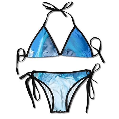 Kanmenenjie Halsey Bikini Women Sexy Slimfit Bikini Set Casual Swimsuit Black