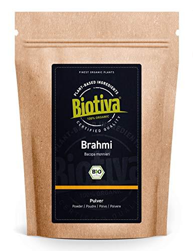 Brahmi Bio Pulver- 100g - Bacopa Monnieri - Gedächtnispflanze - vegan - Ayurveda -Garantiert ohne Zusatzstoffe - Brahmipulver - Abgefüllt in Deutschland (DE-ÖKO-005)