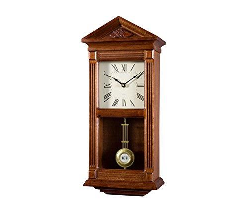 RELOJESDECO Reloj de Pared de péndulo 49cm, Reloj de pendulo, Reloj de carrillon, sonería Westminster Madera.Disponible en num. Romanos