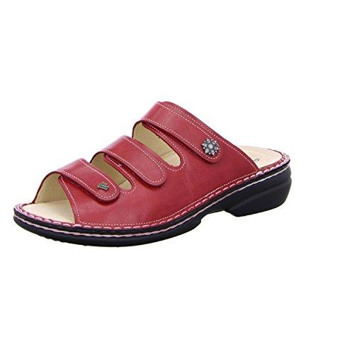 Finn Comfort Menorca-Soft, Damen Offene Sandalen, Rot (Red), 39 EU