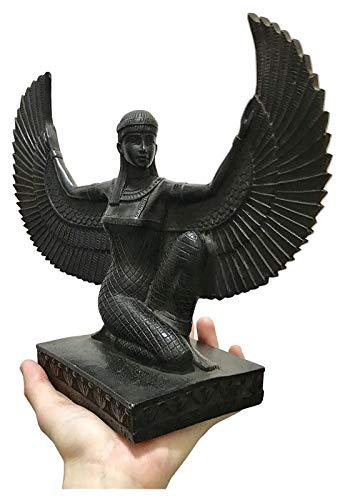 WQQLQX Statue Ägyptische Göttin Statue, Isis Schöne Göttin Skulptur Magische Göttin Natürliche Skulptur Geschenk Desktop Dekoration Zubehör Skulpturen