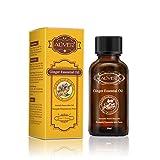 Drainage lymphatique Huile de gingembre Thérapeutique Grade huile de massage au...