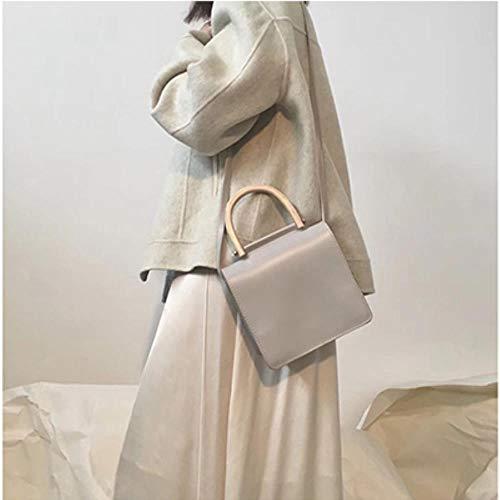 Erfhj Bagage vrouwelijke houten handtas dames handtassen schouder Messenger tas casual kleine flap tas dames clutch tas