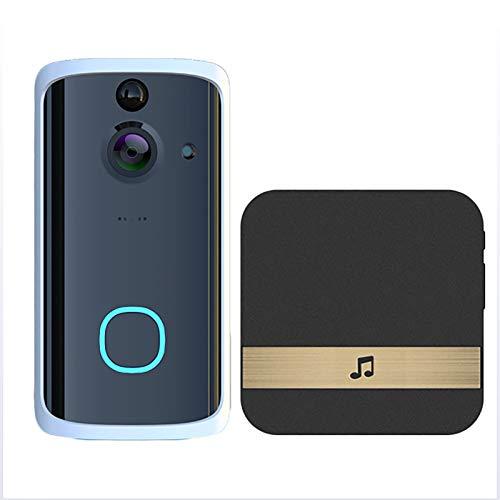 LXT-KL Ring Video Timbre, ABS+Metal Material, Video Timbre que reemplaza su mirilla con video 720P y conversación bidireccional. Detección de movimiento avanzada (con Dingdong)