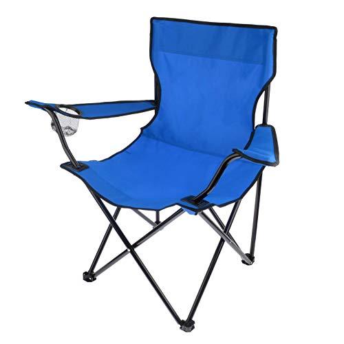 sharprepublic Silla cuádruple portátil para Pesca de Camping con Soportes para Tazas de 225lbs para Barbacoa al Aire Libre Asiento de Respaldo de Picnic con Bolsa - Azul