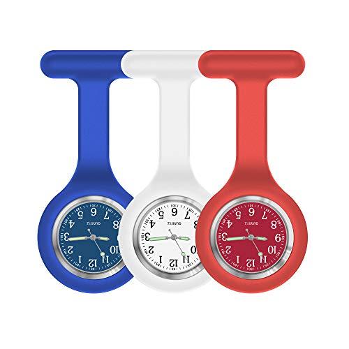 Reloj de Enfermera, Reloj de Enfermera, Reloj de Enfermera para Mujer, Reloj de Enfermera con Segunda Mano, Reloj de Lactancia con Clip