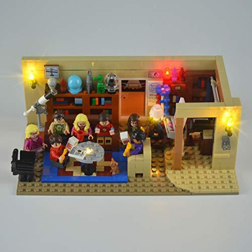 DOSGO Licht-Set Für Big Bang Theory Modell - LED Beleuchtung Light Kit Kompatibel Mit Lego 21302 (Modell Nicht Enthalten)