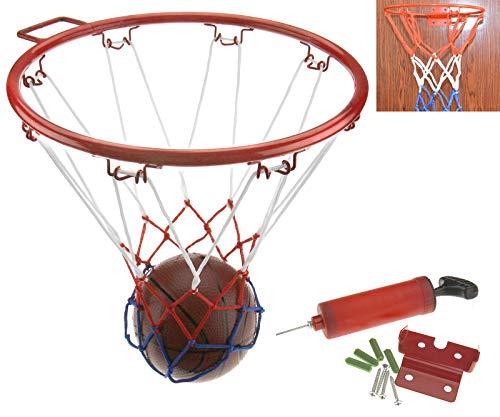 Create Idea 32CM Junior Kinder Basketball Ring Korb-Netz Mit Wandhalterung Handpumpe und Ball Kit