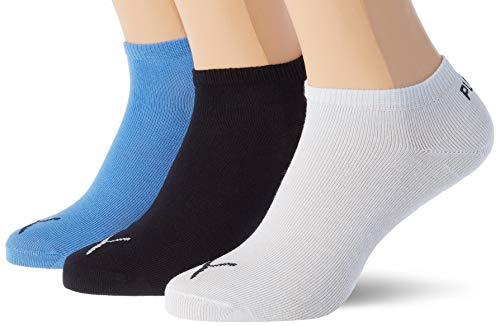 PUMA Unisex Kinder Puma Kids' Invisible (3 Pack) Socks, Marina, 31-34 EU