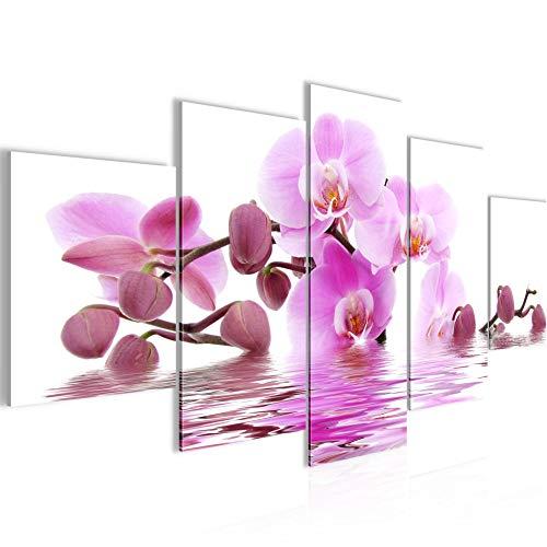 Tabla orquídeas decoración de la pared de flores - 150 x 75 cm Vista de impresión en lienzo Salón Apartamento - listo para colgar - 200653a