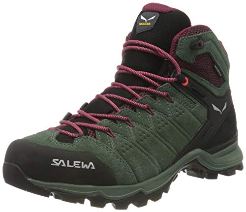 Salewa Damen WS Alp Mate Mid WP Trekking- & Wanderstiefel, Duck Green/Rhododendon, 40 EU