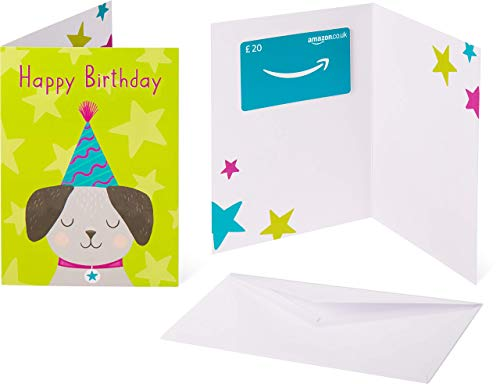 Amazon.co.uk Gift Card - In a Greeting Card - £20 (Birthday Pup)