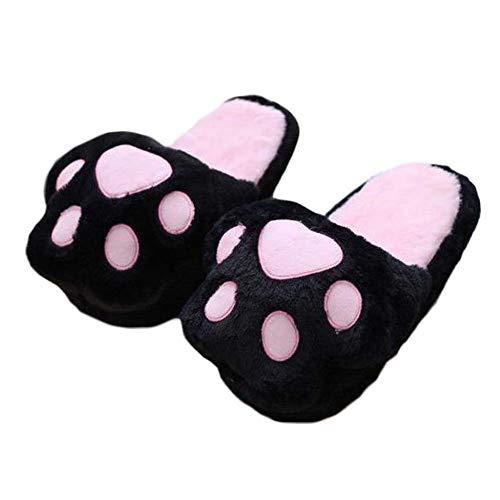 Panda Legends Cute Cat Paw Slippers Women Winter Warm Slippers Bear...
