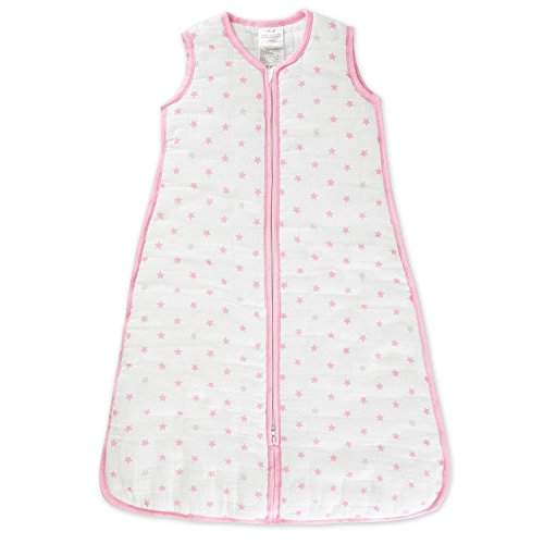aden by aden + anais gigoteuse cozy plus, mousseline 100% coton et molletonnage 100% polyester, 2.5 TOG, darling, small