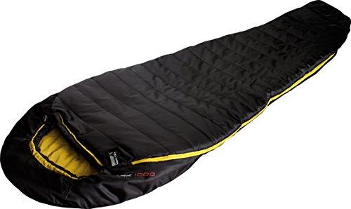 High Peak Schlafsack Pak 1000, schwarz/Curry,