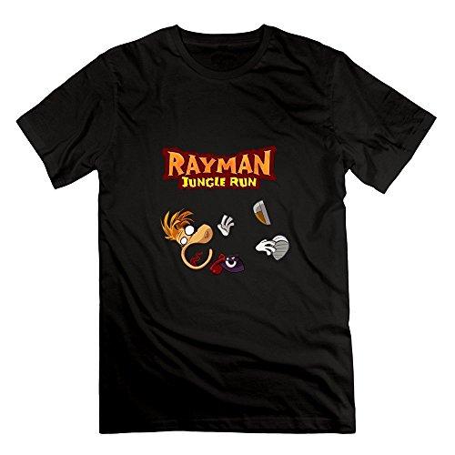 ZhiXiong Herrens Crew Neck Rayman Fiesta Run Tee Shirts X-Large