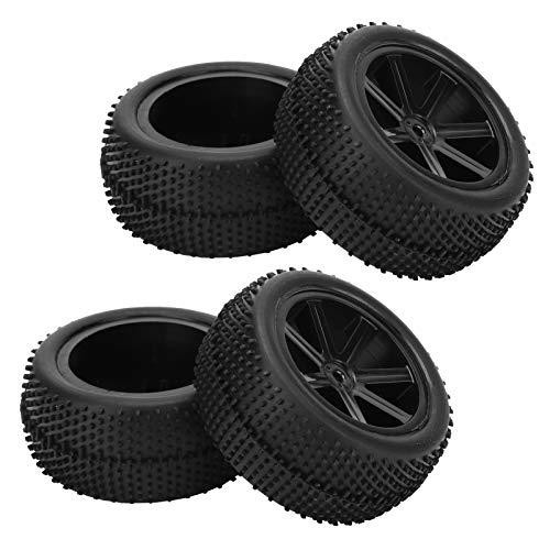 Bigking 1/10 RC Car Wheels Neumáticos, 4 Piezas Universal Wheels Neumáticos Accesorio de Repuesto para ZD Racing 1/10 RC Car Negro