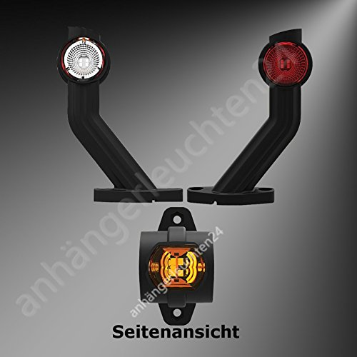 LED Begrenzungsleuchten Seitenleuchten Positionsleuchten LKW PKW Anhänger Wohnwagen (lang)
