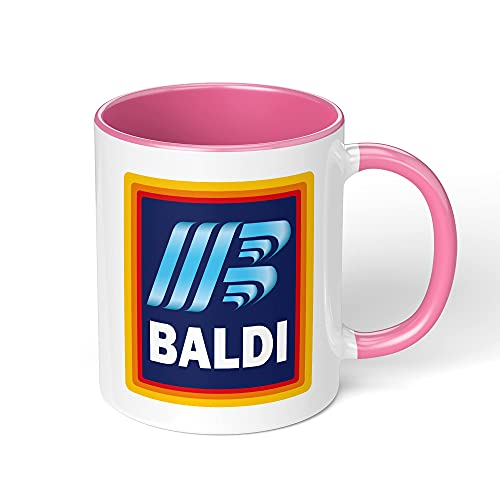 Print Maniacs Bald Funny Mug Novelty Gift Tea Coffee Cup Rude Gift Present for Him Mens Dad Fathers Baldi (Black Fill and Handle)