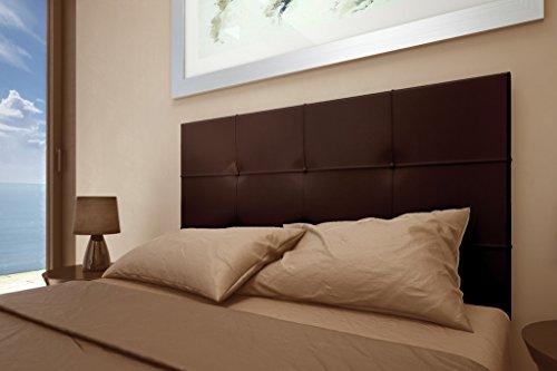 HOGAR24 Cabecero tapizado Versus 155x60. Chocolate