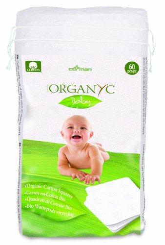 Organyc 100% Organic Cotton Squares Baby 60per pack