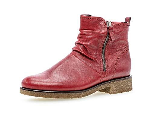Gabor Damen Biker Boots 32.702, Frauen Stiefelette,Stiefel,Halbstiefel,BikerBootie,flach,Dark-red...