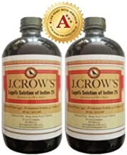 J.CROW'S® Lugol's Solution of Iodine 2% 16 oz Twin Pack (2 Bottles)