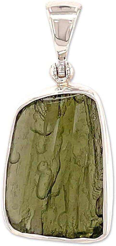 Starborn Polished Moldavite Crystal Green Necklace specialty shop Pendant 22
