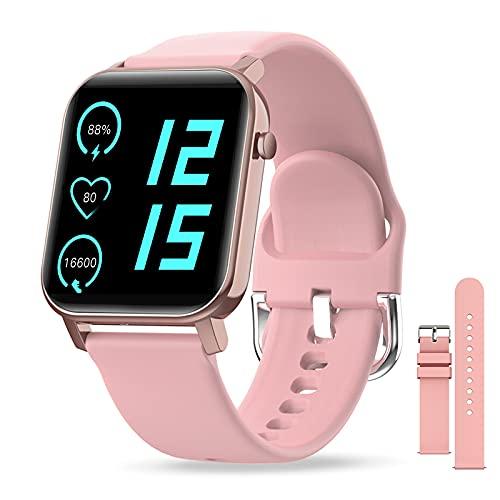 Smartwatch, IP68 Impermeabile Orologio Fitness Uomo Donna, 1,4 Pollici Schermo Tattile Completo, Fitness Tracker con Cinturino Sostituibile, Per Cardiofrequenzimetro da Polso Calorie Activity Tracker
