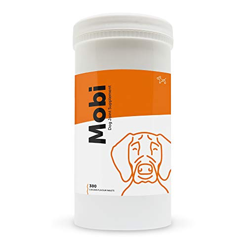 Dog's Lounge MOBI Glucosamina para Perros - Suplemento para la Salud y la Movilidad de Articulaciones con Glucosamina, Condroitina, Mejillón Verde, MSM, Curcumina. Hecho en RU (300 Comprimidos)