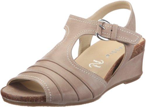 Hassia Damen Siena, Weite H Fashion-Sandalen, Beige/Cotton, 41 1/3 EU