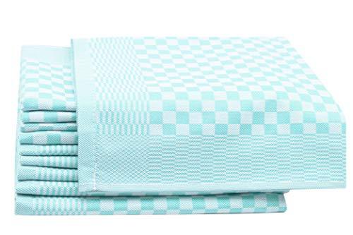 ZOLLNER 10er-Set Geschirrtücher, Vollzwirn, 100% Baumwolle, 46x70 cm, Mint