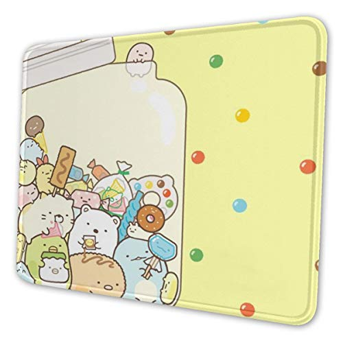 Cute Rilakkuma Sea Otter Funny Theme Art Mouse Pad Natural Rubber Mouse Pad W/Printing of Border 10x12 Inches