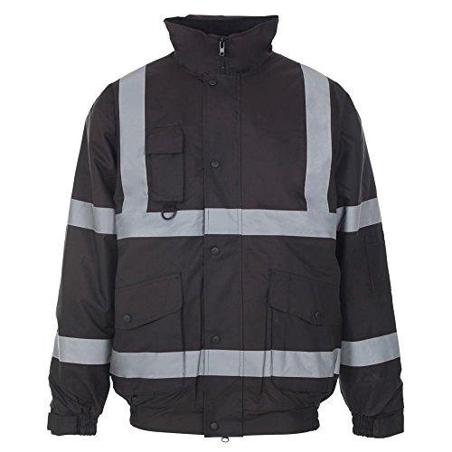 Army And Workwear Veste de sécurité haute visibilité pour homme avec capuche rembourrée et imperméable - - XXL