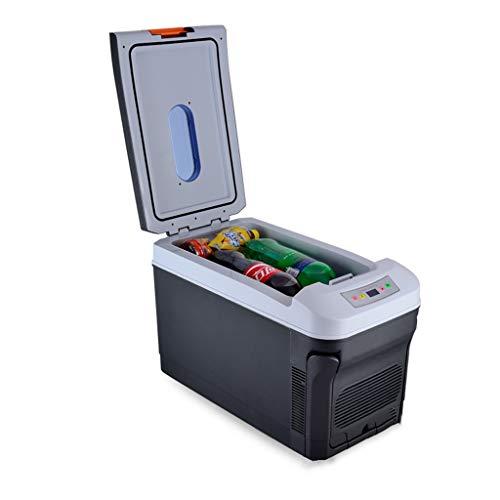 GUGULU Refrigerador de 35L para automóviles eléctricos, refrigeración de Doble núcleo, diseño de Carro, 12V / 24V, 220V