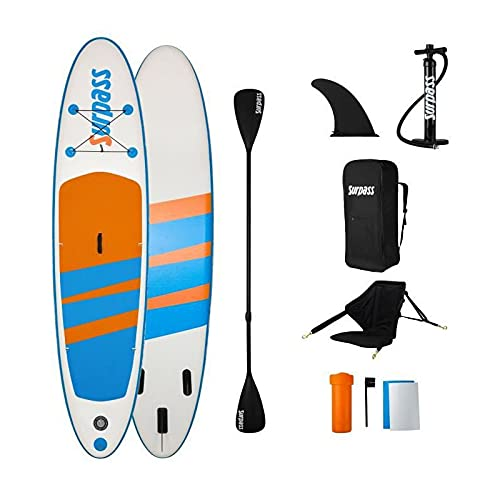 SURPASS - Kit de remo hinchable - 320 x 76 x 15 cm con asiento de kayak
