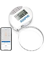Renpho Smart Body Circumference Measure, Bluetooth Tape Measure for Measuring Body Sizes of Biceps, Chest, Hips, Calves, Thighs and Neck, Fitness Tape Measure in Cm Or Inches
