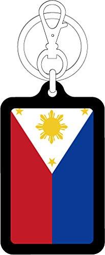K-SK227 フィリピン PHILIPPINES 100円国旗ステッカー キーホルダー (BLACK)