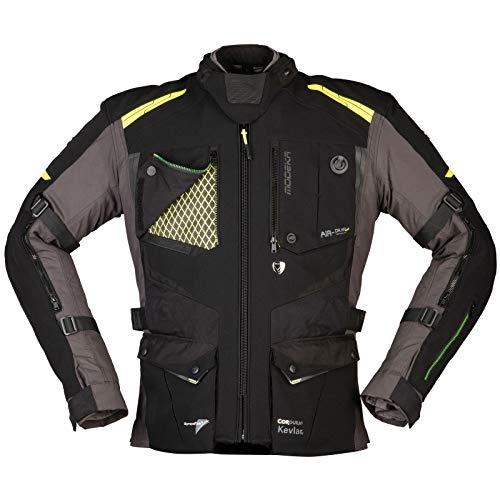 Modeka Motorradjacke TALISMEN schwarz grau neon Sympatex elastisch Aramid SASTEC, XL