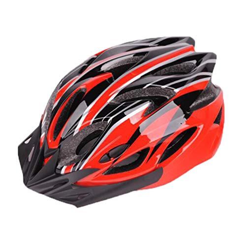Angyu Durable Alta Resistencia Casco Bicicleta Adulto MTB Casco Visera Extraíble Casco Bicicleta Ajustable para Hombres Mujeres Bicicleta Adultos para Montar (Estilo 8,(54-63) cm)