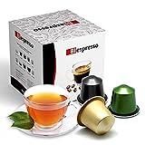 Biespresso, Cápsulas compatibles con Nespresso, té de limón, 50 cápsulas + kit de accesorios (paletas y vasos)