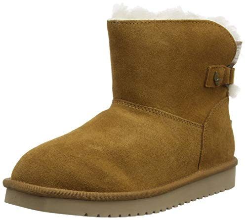 Koolaburra by UGG Women's Jaelyn Mini Classic Boot, Chestnut, 40 EU