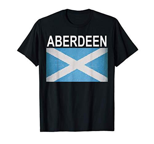Etró-efecto bandera escocesa y ciudad de Aberdeen Camiseta