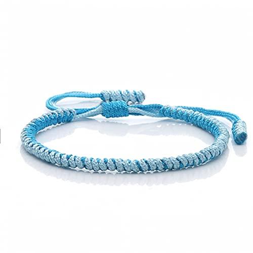N/A Aniversario Pulseras y brazaletes Trenzados Hechos a Mano Ajustables, Pulsera con Dije de Cuerda de la Suerte con Nudos Originales para Mujeres y Hombres, joyería